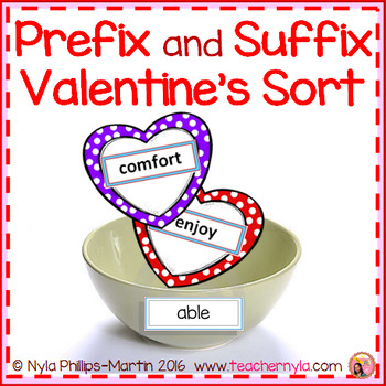 Prefix and Suffix Valentine Matching to Root Word Activity