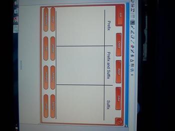 Prefix and Suffix Word Sort Smartboard