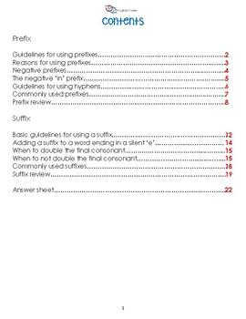 Prefix and Suffix Workbook