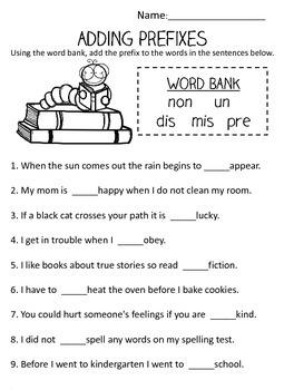 Prefix and Suffix Worksheet BUNDLE w/ Posters