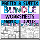 Prefix and Suffix Worksheets