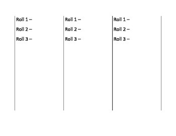 Prefix and Suffix Write and Roll