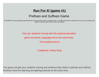 Prefix and Suffix game