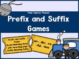 Prefix and Suffix  un- dis- re- -ful -less with Polar Express Theme