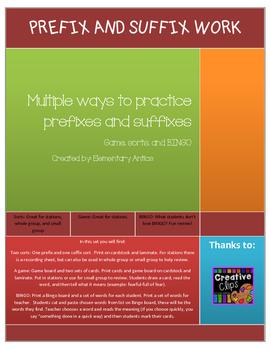 Prefix and Suffix work