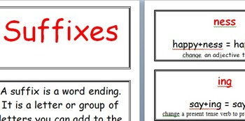 Prefix and suffix cards