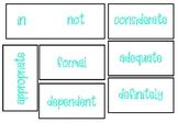 Prefix booklets