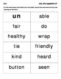 Prefix cards with chart
