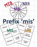 Prefix 'mis' Activities