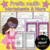 Prefix multi- Worksheets & More