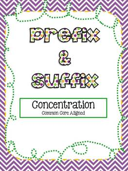 Prefix n Suffix Concentration-Common Core Aligned