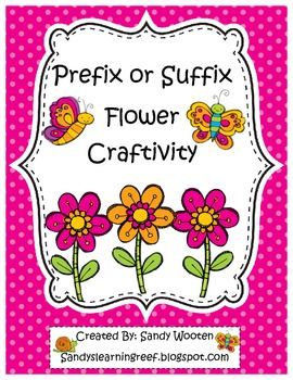 Prefix or Suffix Flower Craftivity *Freebie*