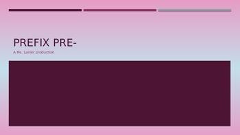 Prefix pre- Power Point