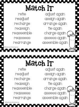 Prefix re (Mini-Book)
