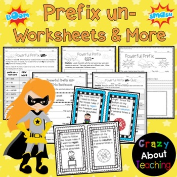 Prefix un- Worksheet & Quiz