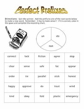 Prefix un, dis, and non game