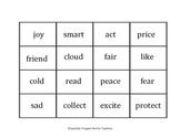 Prefix/Root/Suffix Manipulatives
