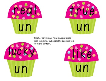 Prefix/Suffix Bake Sale