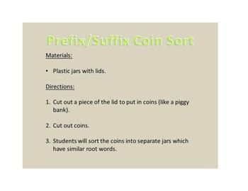 Prefix/Suffix Coin Sort