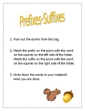 Prefix/Suffix File Folder Activity