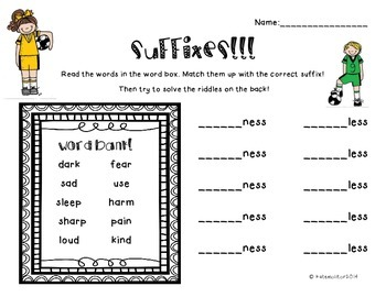 Prefix/Suffix Pack
