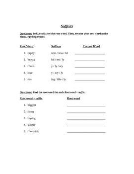 Prefix/Suffix Test