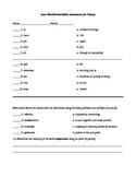 Prefix/Suffix/Root Assessment