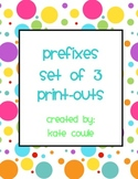 Prefixes! 2 Worksheets and 1 Reference Sheet