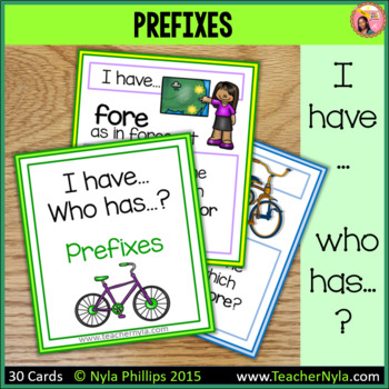 Prefixes 'I Have Who Has' Game