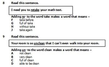 Prefixes - 3 Pretests/Posttests