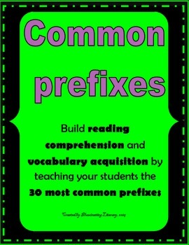 Prefixes - 30 Most Common Prefixes - Bellringers, Exit Tickets, Homework