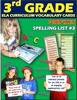 Prefixes: 3rd Grade Spelling List No. 3