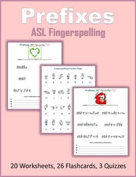 Prefixes (ASL Fingerspelling)