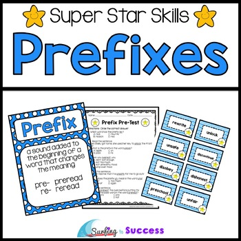 Prefixes: Assessments, Games, and Worksheets