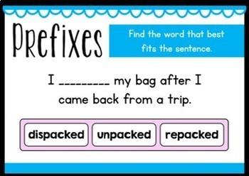 Prefixes Boom Cards