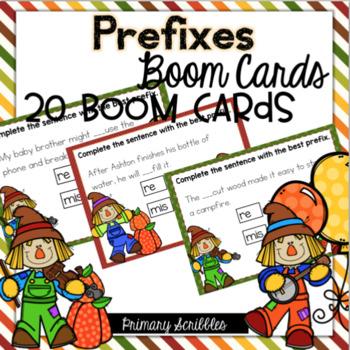 Prefixes Boom Task Cards