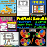 Prefixes Bundle of Activities: PowerPoint, Craftivity, Games, and More!