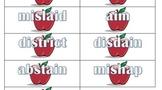 Prefixes Center Literacy Game (dis-, ad-, mis-,in- im-, com-, con-)