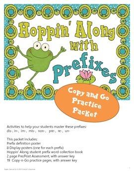 Prefixes, Copy and Go Practice Packet