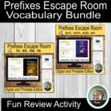 Prefixes Escape Room Bundle, Word Study Escape Room