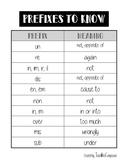 Prefixes FREEBIE