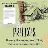 Prefixes Fluency Passages / Close Readings Word Study & Comprehension Activities