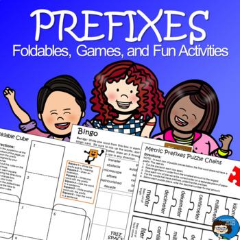 Prefixes - Foldables, Games, and Fun Activities