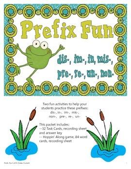 Prefixes Fun Activities