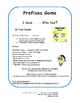 PREFIXES   TASK CARDS   Practice   I Have, Who Has?   REVIEW   CORE Gr. 3-4-5
