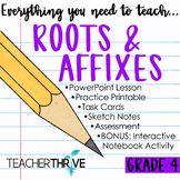 Fourth Grade Language Unit Prefixes, Greek and Latin Roots, Suffixes