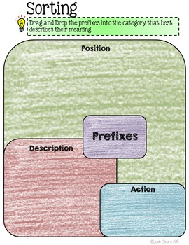 Prefixes Interactive Activities for Google Classroom and One Drive