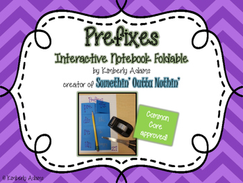 Prefixes Interactive Notebook Foldable (Grammar)