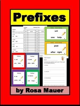 Prefixes Language Arts Task Cards