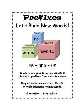 Prefixes  Un, Pre, Re Building New Words